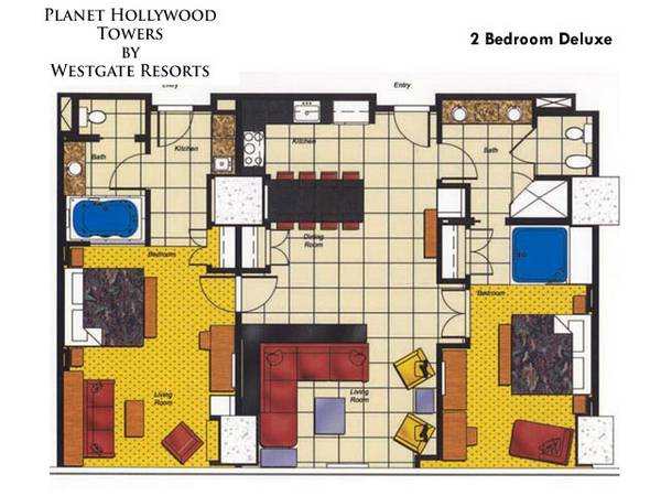 $4000 2br - 2 BEDROOM SUITE - ELARA HILTON LAS VEGAS - 122713 to 010314 (LAS VEGAS, NV)