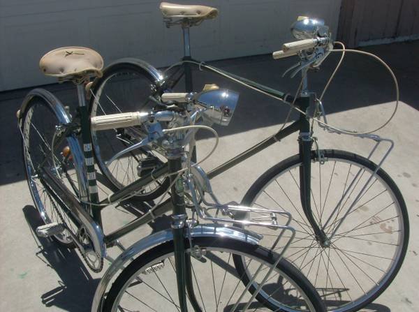 Vintage his and hers 1969 Super Deluxe AMF Hercules 3 speed bicycles - $300 (Henderson)