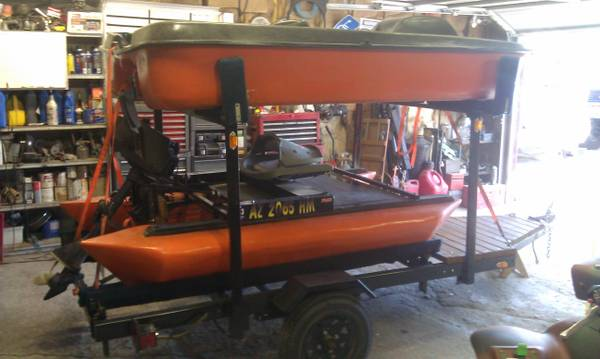 PVC Pontoon Boat Pedal Boat Trailer Water Ready SellTrade - $2000 (Arizona)