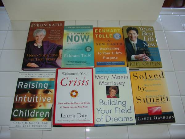 8 NEW MOTIVATIONAL SPIRITUAL SELF HELP BOOKS - $25 (Seven Hills-Henderson)