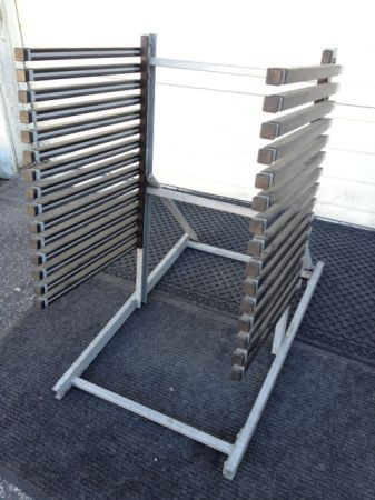 15-Slot Vertical Windshield Racks Auto Glass, Used in Prime Condition - $120 (Maryland Tropicana - 89119 )