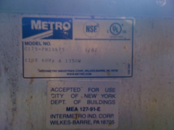 Metro C175-Pm2x675 Portable Combination Proofing Cabinet $1,200.00 - $1200 (Mohave Charleston )