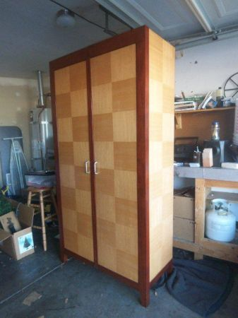 Maple Armoire Wardrobe in Art Deco style - Huge and super HEAVY - $650 (Henderson, NV)