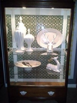1940s Hollywood Regency style Lighted Display Cabinet Hutch - $300 (nlv)