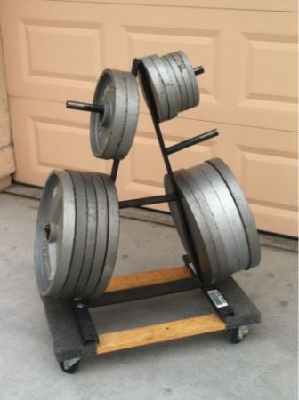 540lbs in Weights with Rack - $250 (Summerlin)