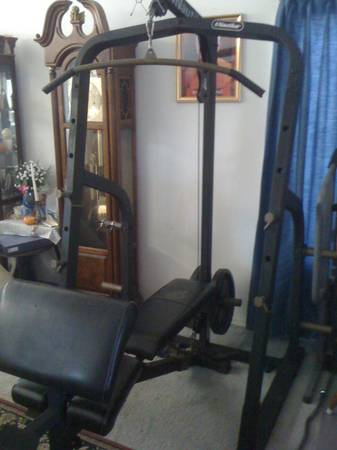 Nautilus Power Cage home gym, Olympic squat rack, weight bench-solid - $200 (n. las vegas)