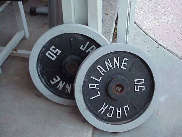 2 50lb Jack LaLanne weights - $60 (Home-NW LV)