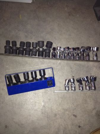 Snap on matco chrome and impact swivel sockets. 38 12 drive - $500 (Silverado ranch and eastern)