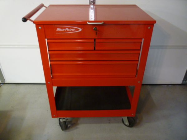 Very Impressive Red Snap On Blue Point 4 Drawer Service Cart - $350 (Las Vegas)