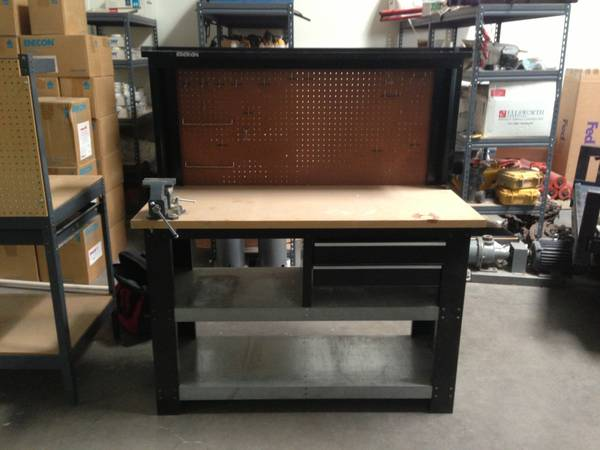 TWO WORK BENCHES - ONE KOBALT WORK BENCH - $100 (HENDERSON )