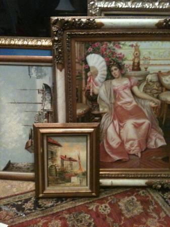242 SIGNED Framed OIL PAINTINGS COLLECTION - BLOWOUT PRICED - $20 (las vegas)