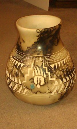 BEAUTIFUL Horse hair signed pottery (Summerlin)