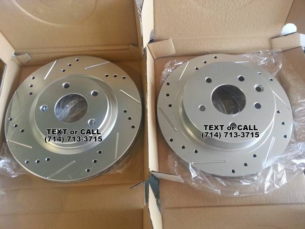 Brake Rotors - Drilled Slotted - New New New - $99