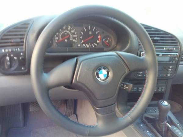 BMW E36 M3 Euro Steering Wheel, new with M stitching - $400 (nw)