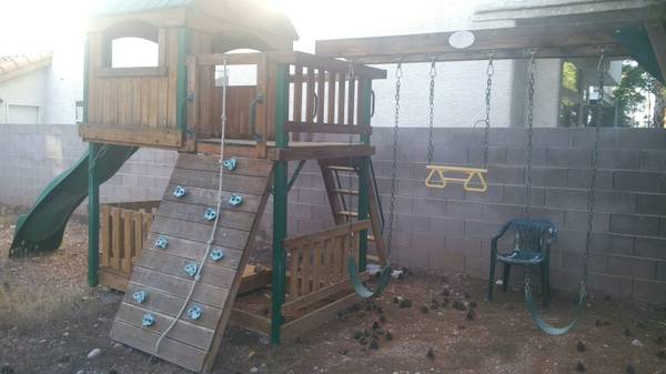 Wooden Fort Adventure Playset - $500 (Buffalo Lake Mead)