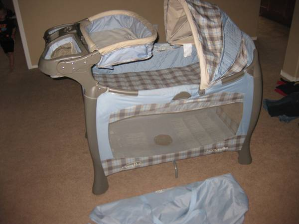 playpen and changing table - $50 (lake mead and buffalo)