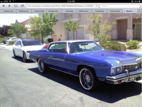73 CHEVY IMPALA CUSTOM CANDY BLUE - $8000 (Spring valley)