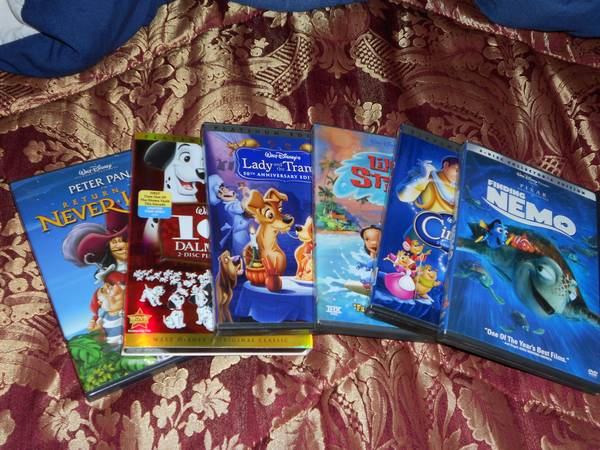 DISNEY DVDs For sale Nemo, Lady Tr MORE Scooby Doo - $10 (215Stephanie St)