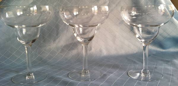 Princess House Heritage Hand-Blown Crystal Margarita Glasses (Three) - $20 (Near M Resort)