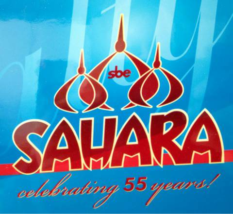 55th anniversary club SAHARA sign and MAGNET LOT from extinct casino - $100 (Silverado Ranch)