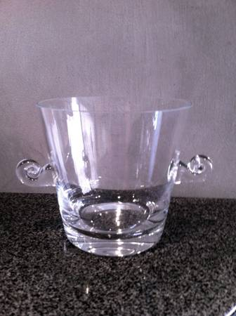2 Waterford Crystal Vases and a Tiffany Crystal Ice Bucket - $100 (Desert Shores)