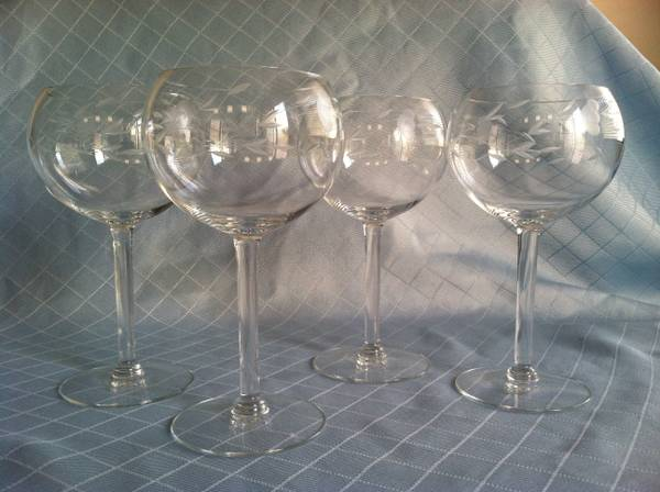 Princess House Heritage Small Balloon Wine Glasses (Four) - $25 (Near M Resort)