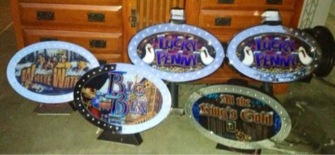 LOT of 5 Las Vegas Casino Collectible Lighted Slot Machine Toppers Bonus - $200 (Silverado Ranch)
