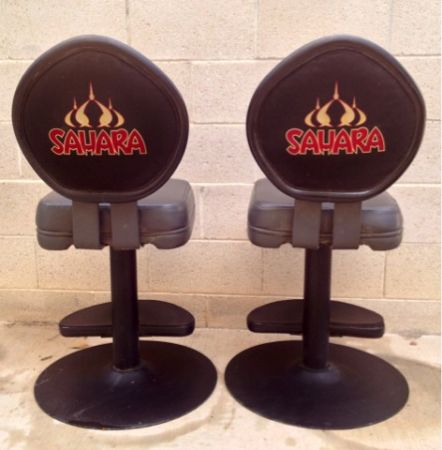 SET PAIR of 2 Las vegas SAHARA Casino Slot Machine Chair ( s ) - $250 (South Las Vegas Silverado Ranch 89123)