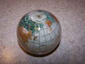 GEMSTONE PAPERWEIGHT GLOBE - LOWERED TO $18 (Near South Point Casino)