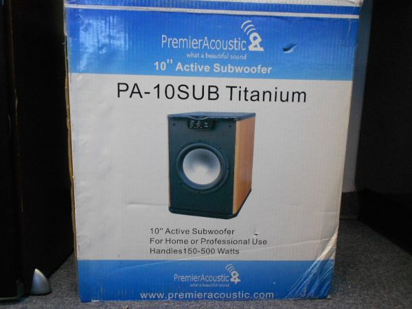 Premier Acoustics 10 inch 500 watt Home Subwoofer $125 OBO - $125 (cheyenne and rancho)