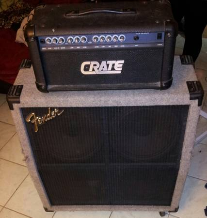 Fender Half-Stack Amp w Crate Head $300 or BEST OFFER - $300 (Paradise)