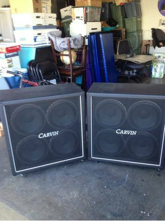 TODAY ONLY 2 CARVIN Guitar Cabinets LOADED NEAR MINT - $240 (Summerlin)