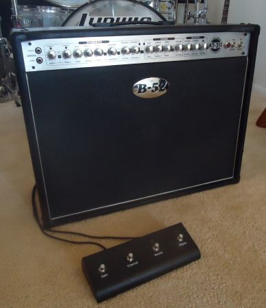 B-52 AT-100 3 channel full tube combo wreverb4 pos. footswitch - $370 (S. Las Vegas)