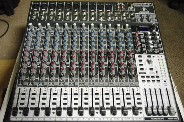 Behringer Xenyx 2442fx mixing console used a few times - $150 (Las Vegas 89108)