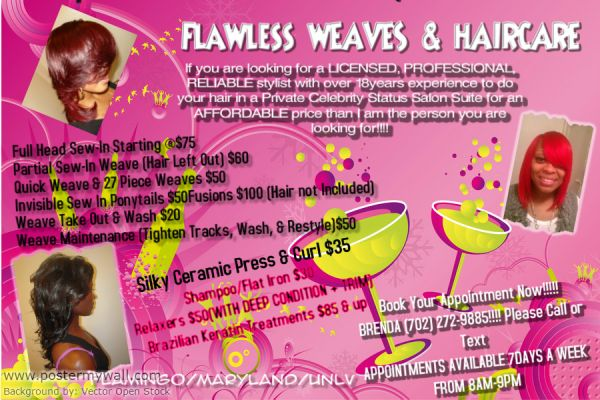 QUALITY SALON HAIRCARE SERVICES WEAVES STARTING$10 (UNLVFLAMINGO BLVD )