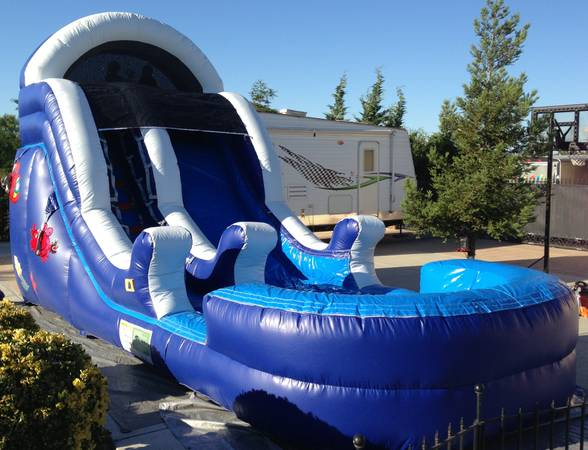 Bounce house, waterslide, tables, chairs, snowcone machine (Merced, Atwater, Winton)