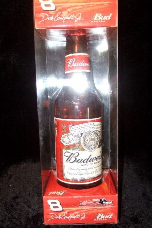 NIB DALE EARNHARDT JR 2002 164 DIECAST CAR IN A BUDWEISER BOTTLE - $15 (Atwater)