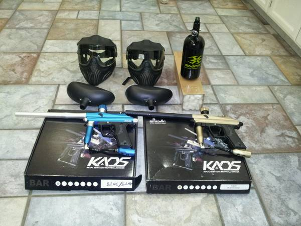 Azodin Kaos Semi Auto Paintball Gun Blue Silver And Gold Black - $350 (Modesto)