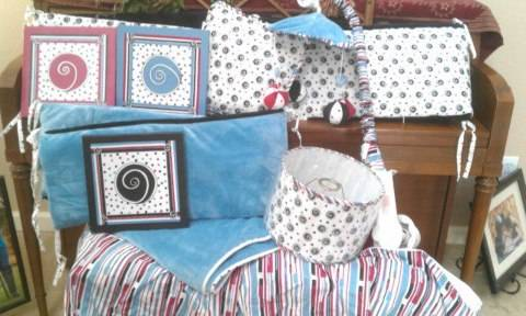 Crib Bedding Set - $50 (Merced)