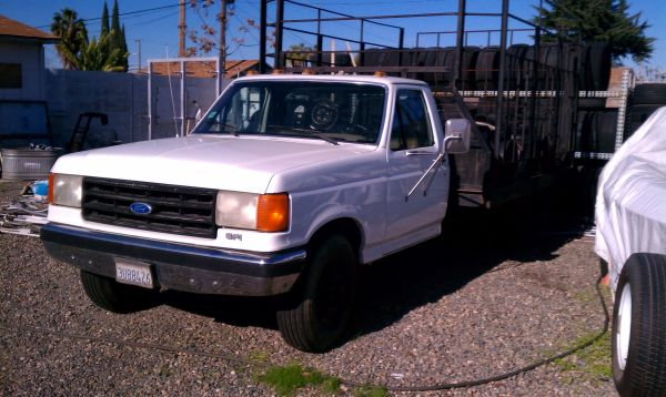 1989 f350 DUALLY FLATBED 7.5 LITER - $2000 (OBO IN MODESTO )