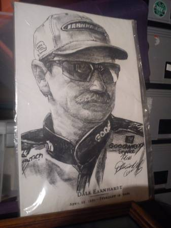 Dale Earnhardt Charcoal Drawing Print(Copy) - $50 (Merced, CA)