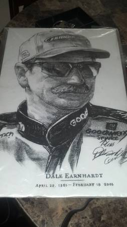 Dale Earnhardt Charcoal Drawing Print(Copy) - $60 (Merced, CA)