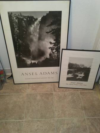 Two Ansel Adams Framed Pictures - $15 (Merced)