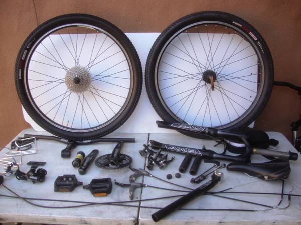 Mountain bike Road bike parts from $3 up - $300 (modesto)
