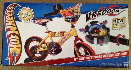 Hot Wheels Bike BRAND NEW 12 inch with Training Wheels Bicycle - $55 (Modesto, CA)