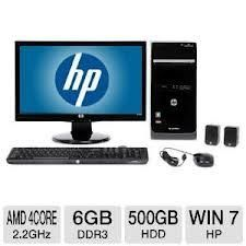 COMPUTER NEW HP pavilion p6 2136b PC bundle - $500 (Avery ca)