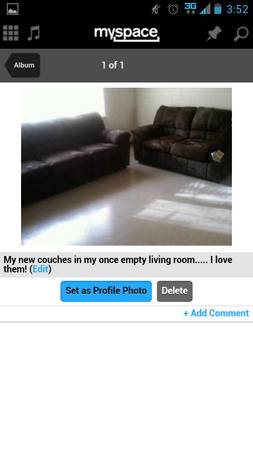 brown microfiber suede couch and loveseat (ashley) (modesto cali)
