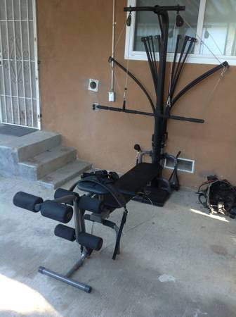 Bowflex Power Pro home gym with lat tower leg extension - $180 (Modesto)