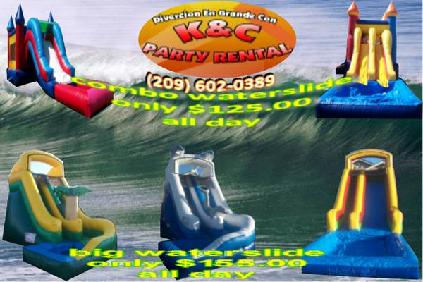 KC PARTY RENTAL WATERSLIDE - $55 (MODESTO-CERES-TURLOCK-Y MAS)