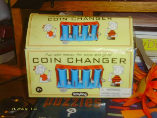 Coin Changer--Fun with Money for boys and girls - $5 (modesto--tully and princeton)